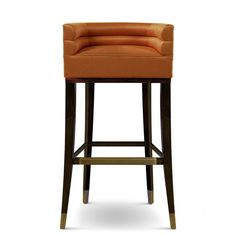 Buy MAA BAR CHAIR by Carlyle Collective - Made-to-Order designer Furniture from Dering Hall& collection of Contemporary Mid-Century & Modern Transitional Stools Unique Bar Stools, Bar Stools With Backs, Modern Bar Stools, Pantone, Compact Table And Chairs, Contemporary Home Furniture, Chic Desk, Counter Stools, Bar Counter