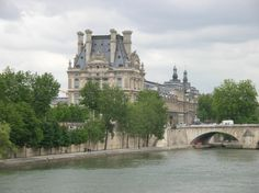 The Louvre.  A view from a bridge new Musee d'Orsay.
