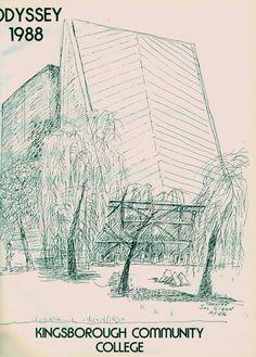 "KINGSBOROUGH COMMUNITY COLLEGE (BROOKLYN, NY) YEARBOOK (1988) ""ODYSSEY"""