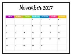 blank calendar 2018 17