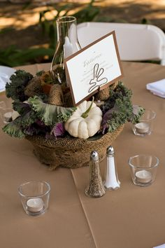 It& almost time for fall weddings! 50 Beautiful Centerpiece Ideas For Fall Weddings. Here are the top 50 centerpiece trends we& loving for autumn nuptials. Plus other fall Beautiful Centerpiece for holidays. Fall Wedding Table Decor, Fall Wedding Centerpieces, Fall Wedding Flowers, Fall Wedding Colors, Fall Table, Floral Centerpieces, Fall Decor, Wedding Decorations, Table Decorations