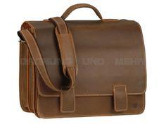 Greenburry BUFFALO - Leder XL Lehrertasche Schultasche Aktentasche - tabak, naturbraun oder rot