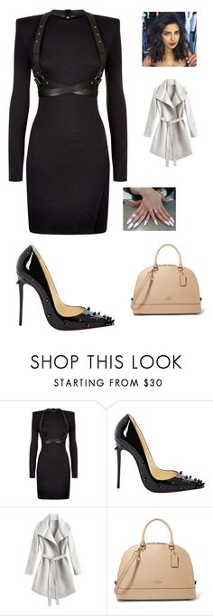 """""""Untitled #556"""" by brie-karitsa-luciano on Polyvore featuring Balmain and Christian Louboutin"""