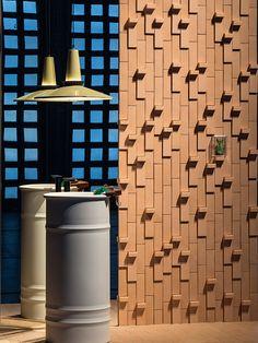 Tierras - Artisanal - Little L - Sand - Base - Sand Foyer Design, Brick Design, Wall Design, Patricia Urquiola, Wall Cladding Designs, Brick Cladding, Brick Art, Brick Texture, Terracota