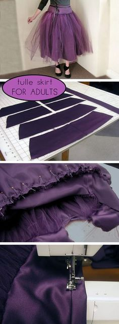 DIY custom-fitted tulle skirt that you can do with little sewing know how. Get the full how to tutorial with step by step pictures here: http://www.ehow.com/how_12013170_make-tulle-skirt-adults.html?utm_source=pinterest.com&utm_medium=referral&utm_content=inline&utm_campaign=fanpage