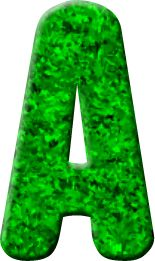 Alfabeto Decorativo: Alfabeto - Grama Verde - PNG - Maiúsculas e Minúsc...