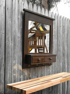 Large Entry  mirror made of solid  reclaimed by neilsonwoodworks, $200.00