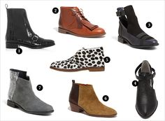 Flat Ankle Boots | Rue - except for the cow on e in the center