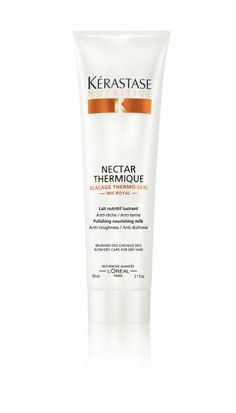 Kerastase Thermique. Love this product and how it smells. Makes the hair so fluffy and light.