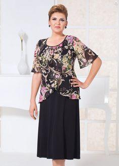 Desenli Şifon Bluz Takım Model