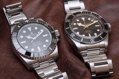 Rolex Submariner 114060 'No Date' Vs. High End Watches, Cool Watches, Rolex Watches, Watches For Men, Tudor Heritage Black Bay, Tudor Black Bay, Rolex Submariner, Watch Blog, Outfits With Converse