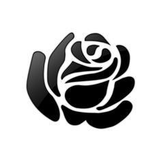 Free Black and White Clip Art, Black & White Clipart Pictures Black And White Roses, Clipart Black And White, White Art, Stencil Patterns, Stencil Designs, Applique Designs, Motif Floral, Art Floral, Stencil Rosa