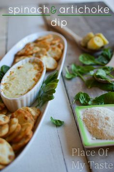 HOT SPINACH & ARTICHOKE DIP , perfect appetizer for your next get together.
