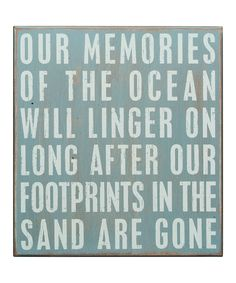 This 'Memories of the Ocean' Box Sign by Primitives by Kathy is perfect! #zulilyfinds