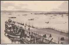 The Pier, Falmouth, Cornwall, 1912 - Valentine's Postcard Falmouth Cornwall, Postcards For Sale, Prince Of Wales, Esquire, Sailing Ships, United Kingdom, England, Valentines, Valentine's Day