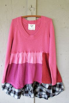 Image result for refashioned knit tunics