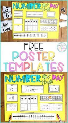 Number of the Day routine in your Kindergarten and first grade classroom can help build number sense and math fluency with repeated experiences with numbers. Kids will love learning about numbers with this FREE poster that teaches them numerals, First Grade Classroom, 1st Grade Math, Math Classroom, Classroom Decor, Math Games Grade 1, Grade 2, Preschool Math, Teaching Kindergarten, Number Sense Kindergarten