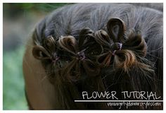 Pretty Hair Flower Tutorial.