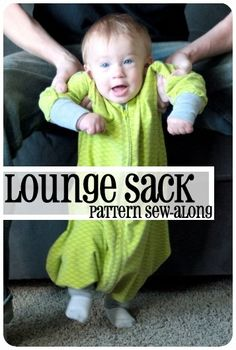 infant/baby/child lounge sack pattern sew along tutorial, new michael miller knits!