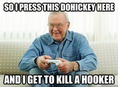 Grandpa pwns at video games