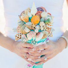 Seashells and starfish bouquet