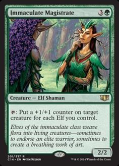 Immaculate-Magistrate-x4-Magic-the-Gathering-4x-Commander-2014-mtg-card-lot-elf
