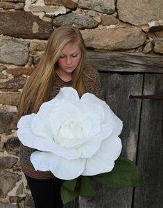 Giant Paper Rose Flower - Oversized Paper Roses - First Anniversary or Valentine's Day Paper Bouquet
