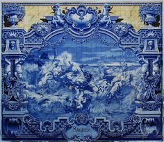 Azulejos Tiling Pictures and Information, Lisbon, Portugal - Bugbog Tile Murals, Tile Art, Mosaic Tiles, Tile Painting, Tiling, Mural Art, Traditional Tile, Tile Panels, Glazed Tiles