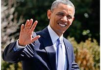 Image: President Obama waves as he leaves the White House on Wednesday ~ President Obama will return 5 percent of his salary to the U.S. Treasury when other federal workers are being furloughed as part of the mandatory budget cuts that took effect earlier this year, NBC News has confirmed.
