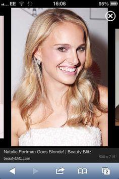 Natalie's blonde hair looks Gorgeous