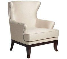 Vanessa Mandarin Wheat Upholstered Wingback Chair | 55DowningStreet.com