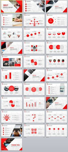 31+ Red Annual Report PowerPoint templates