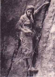 .early lady climber