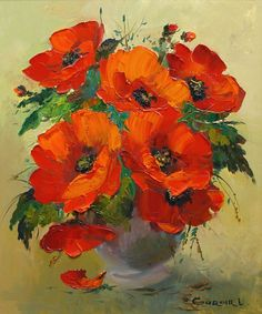 Shop for Poppies' Gallery-wrapped Canvas Art. Get free delivery On EVERYTHING* Overstock - Your Online Art Gallery Store! Art Floral, Watercolor Flowers, Watercolor Paintings, Poppy Field Painting, Poppy Flower Painting, Red Poppies, Poppy Flowers, Painting & Drawing, Flower Art