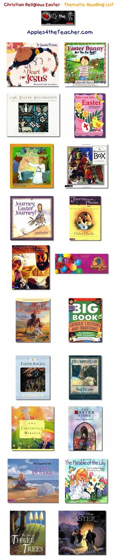Suggested thematic reading list for Easter - Easter books for kids.