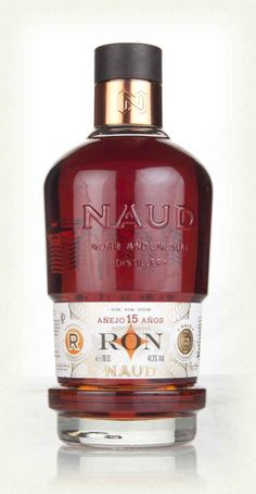 """A 15 year old Panamanian rum, bottled by NAUD in France. In case you were wondering, """"NAUD"""" stands for """"Noble and Unusual Distillery"""" - hence the capital letters. Whisky, Cigars And Whiskey, Alcohol Spirits, Wine And Spirits, Alcohol Bottles, Liquor Bottles, Vodka, Wine, Drink"""