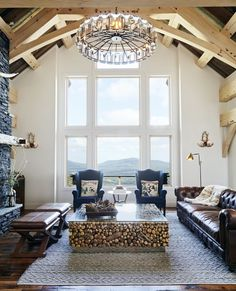 If Our Home Looked Like This Catskills Winter Lodge, We'd Never Leave - Tour a rustic, industrial winter lodge in upstate New York that might be the ski home of our dreams - Rustic Industrial Decor, Vintage Industrial Furniture, Industrial House, Rustic Decor, Industrial Farmhouse, Industrial Style, Modern Interior Design, Modern Decor, Modern Rustic
