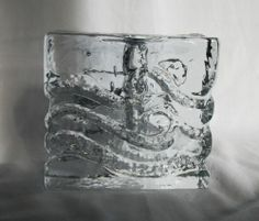 images mid century clear art glass plate - Google Search