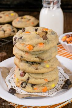 These Reese's Peanut Butter Pudding Cookies are loaded with candy. The pudding mix keeps the cookies soft and chewy for days.