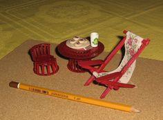 Miniature furniture - image for inspiration Miniature Furniture, Dollhouse Furniture, Library Shelves, Doll Houses, Minis, House Ideas, Miniatures, Dolls, The Originals