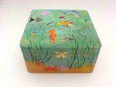 Children's Personalised Wooden Keepsake Box by funkyforesthome