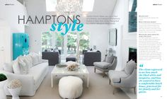 Hamptons home as featured in Adore Home magazine's Dec 2010/Jan 2011 edition. www.adoremagazine.com
