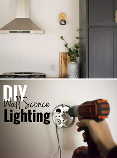 Adding a wall sconce lighting can save space and add a little more visual interest to your wall. They work in basically every room: bedrooms, bathrooms, and any obscure places that need a little extra light.  Here's how to install them yourself: http://www.ehow.com/how_6368628_install-wall-sconce-lighting.html?utm_source=pinterest.com&utm_medium=referral&utm_content=freestyle&utm_campaign=fanpage