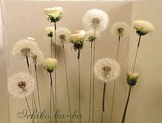 タンポポ綿毛のドライフラワーの作り方 - いち子ばーばのお針箱Ⅱ Diy And Crafts, Crafts For Kids, Hair Ornaments, Cold Porcelain, Handmade Home Decor, Flower Arrangements, Diy Projects, Floral, Flowers