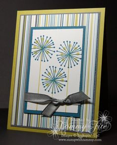 Stampin Up Masculine Card Idea | Stampin Up! Card Ideas / Masculine Flowers?