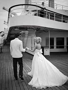 Hold your wedding or reception onboard a Royal Caribbean cruise. Ships make for unique and beautiful backdrops to your special day.