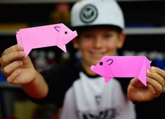 origami facile à faire pour les enfants: porcelets