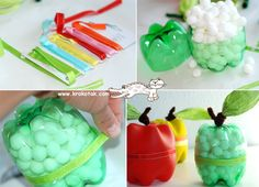 DIY apples filled with marshmellows