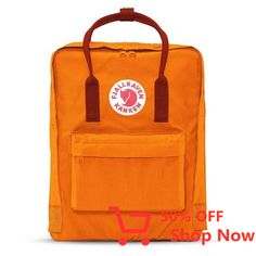 Shop your Kanken bag or backpack from the official Fjallraven US online store. We have Kanken mini, re-Kanken and the original, iconic Kanken bag Mochila Kanken, Vsco, Orange Backpacks, Mini Backpack, School Backpacks, Burnt Orange, Product Launch, Unisex, Classic