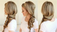 Do a pretty side braid pony Side Ponytail Hairstyles, Cute Braided Hairstyles, Braided Ponytail, Bridal Hairstyles, Hair Loss Causes, How To Grow Eyebrows, Cool Braids, Prom Hair, Beauty Makeup